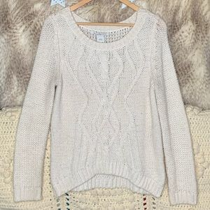 American Rag Cable Knit Ivory Sweater